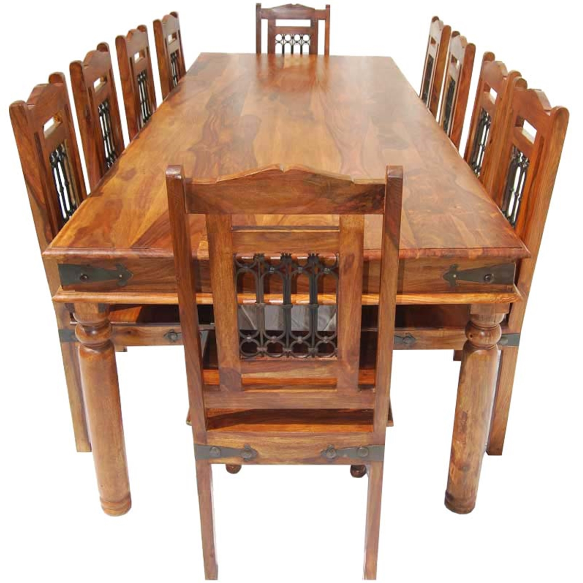 rustic dining table set photo - 5