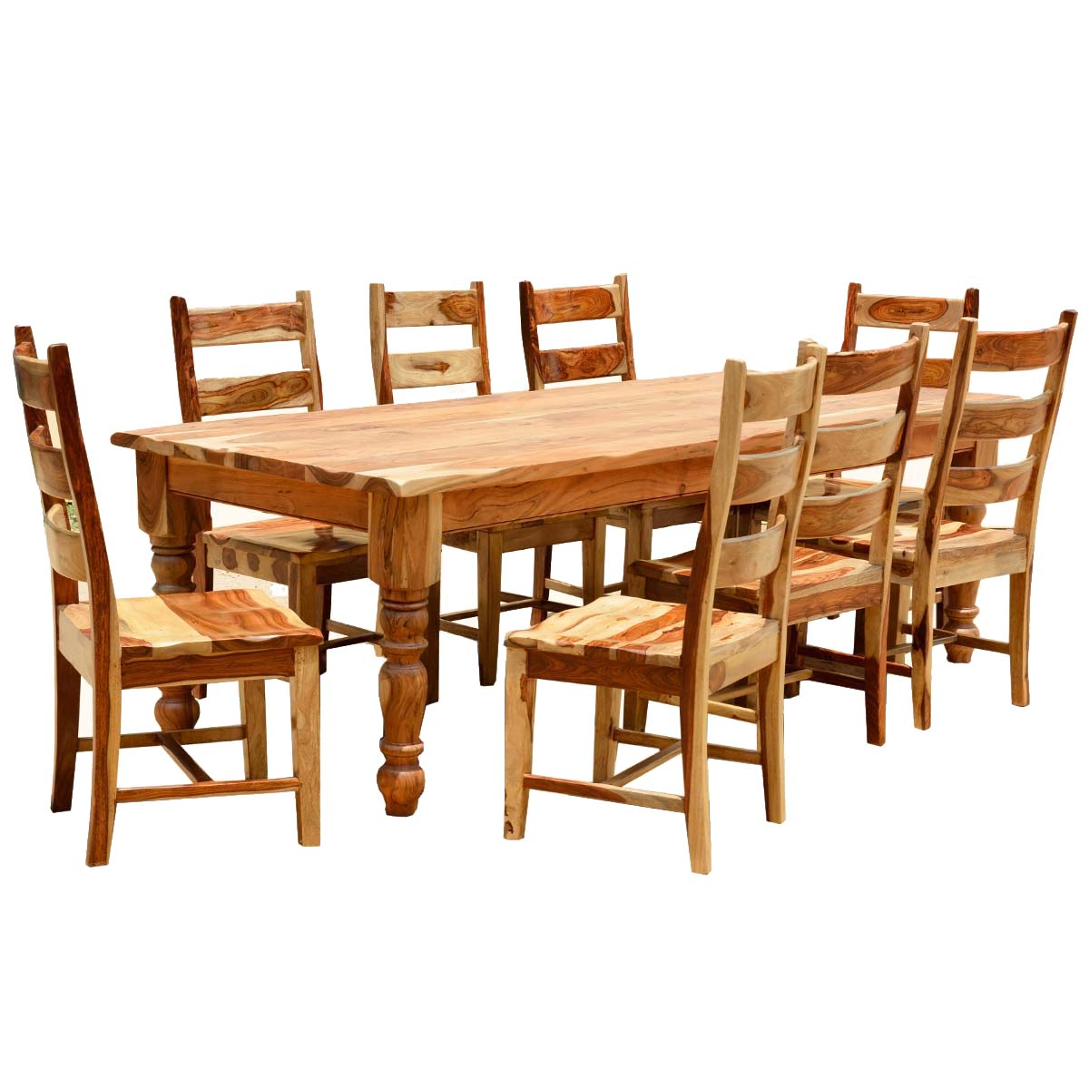 rustic dining table set photo - 6