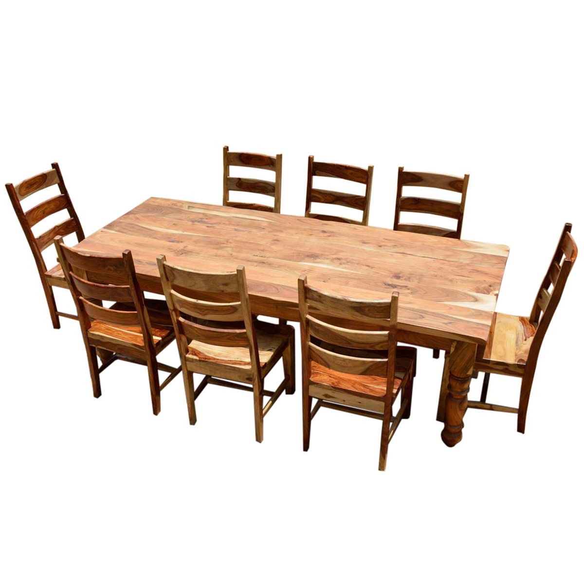rustic dining table set photo - 7