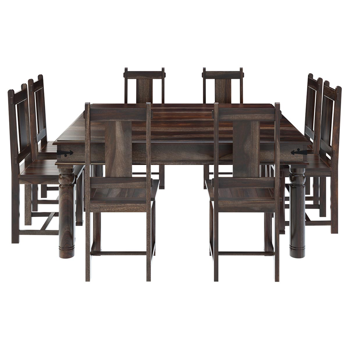 rustic dining table set photo - 9