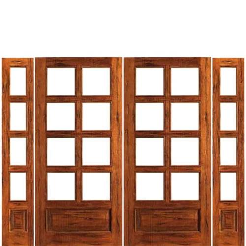 rustic french doors interior photo - 1