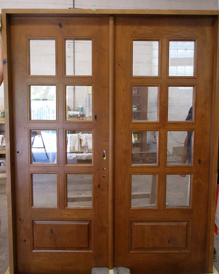 rustic french doors interior photo - 4