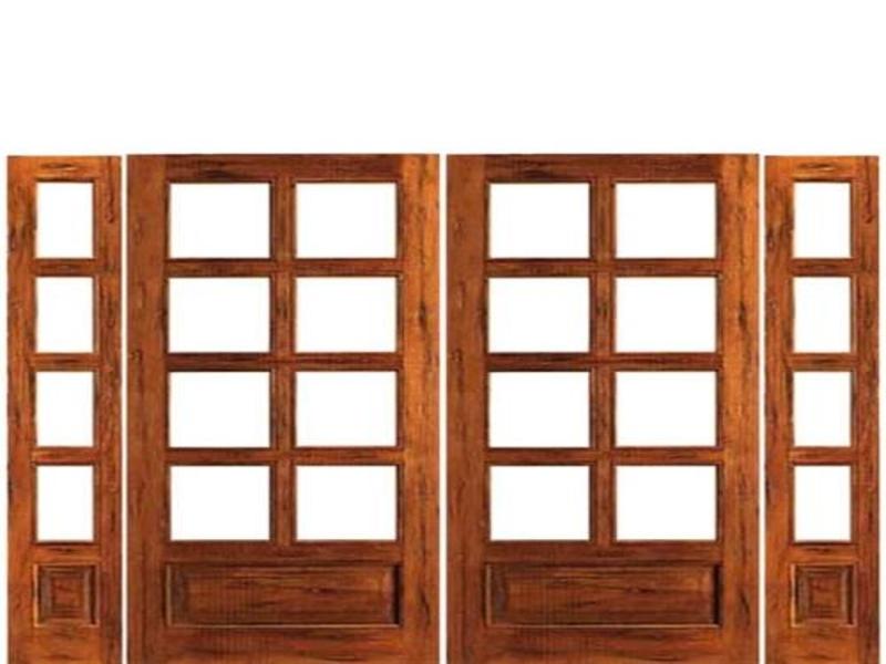rustic french doors interior photo - 5