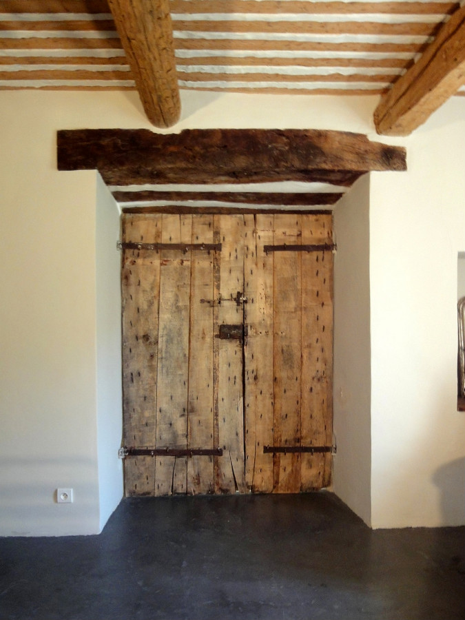 rustic french doors interior photo - 9