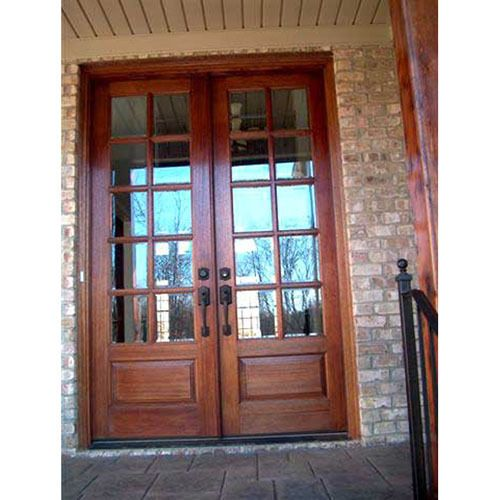 rustic interior french doors photo - 2