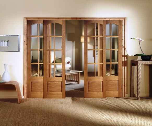 rustic interior french doors photo - 4