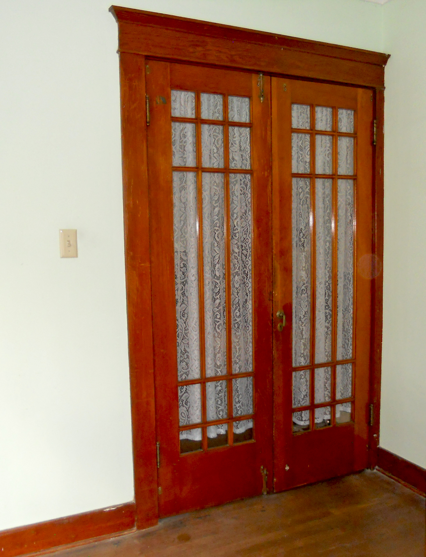 rustic interior french doors photo - 5