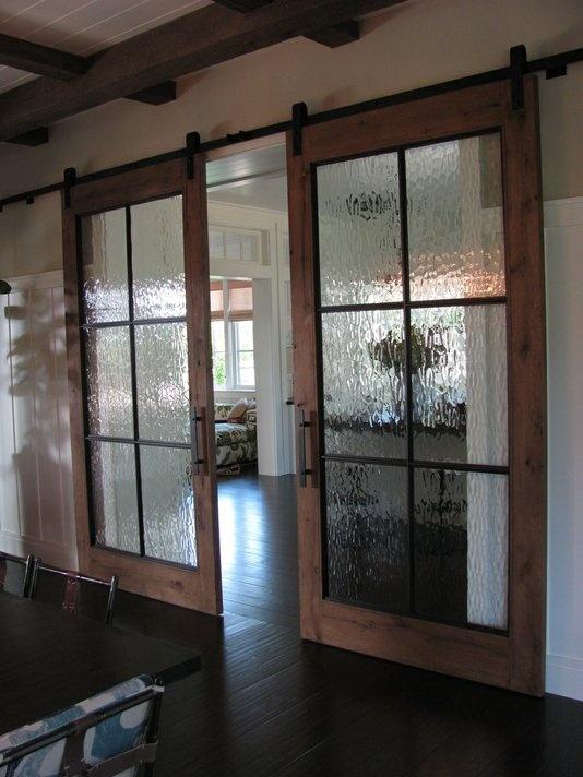rustic interior sliding doors photo - 7