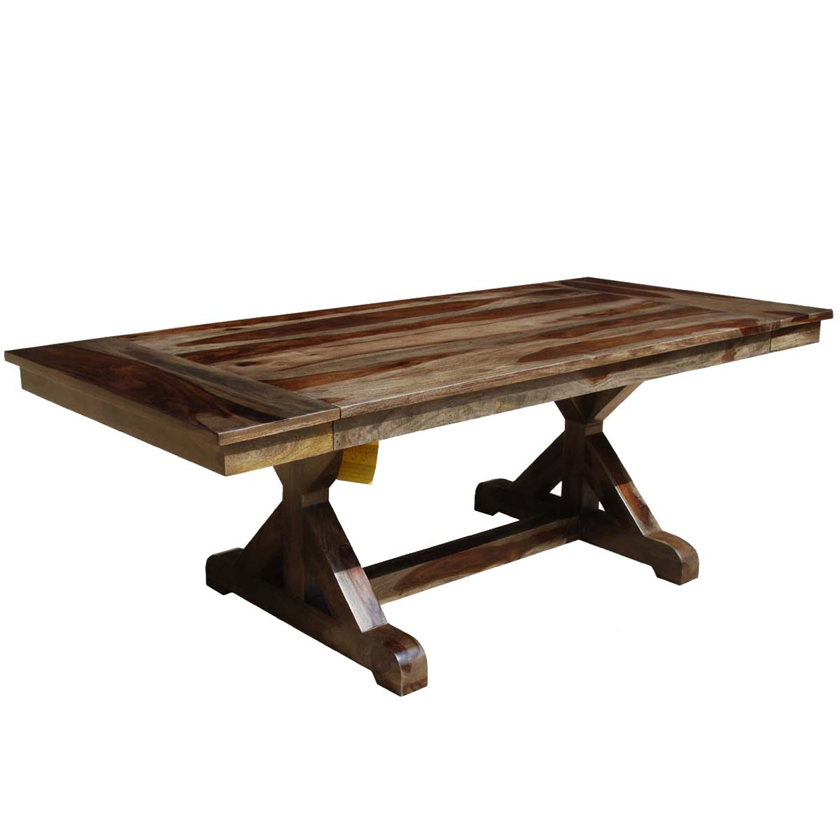 rustic wood dining table base photo - 1