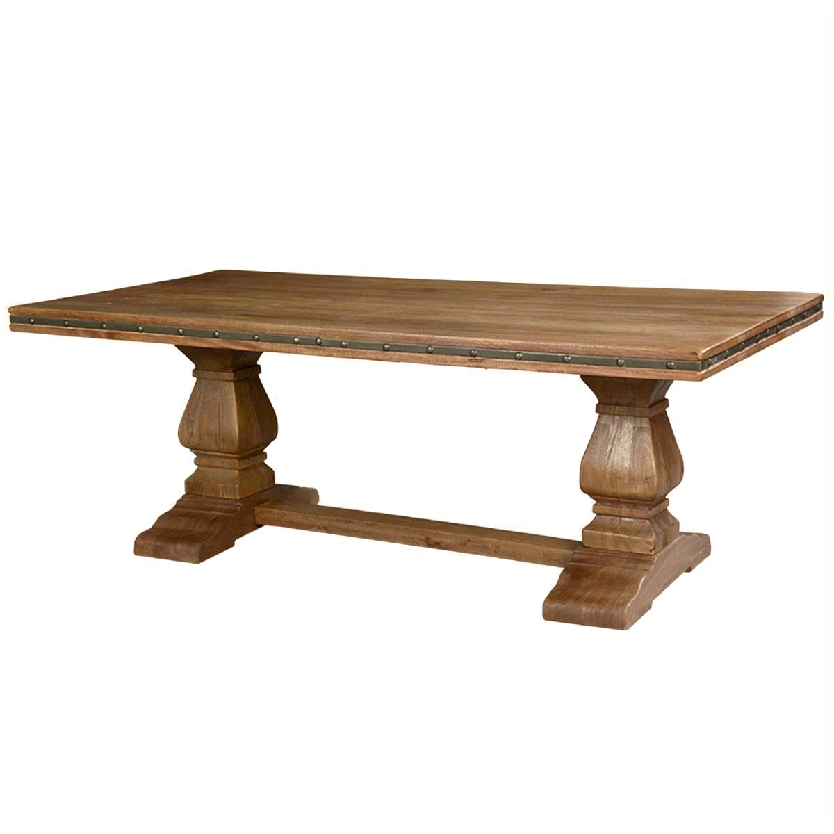 rustic wood dining table base photo - 3