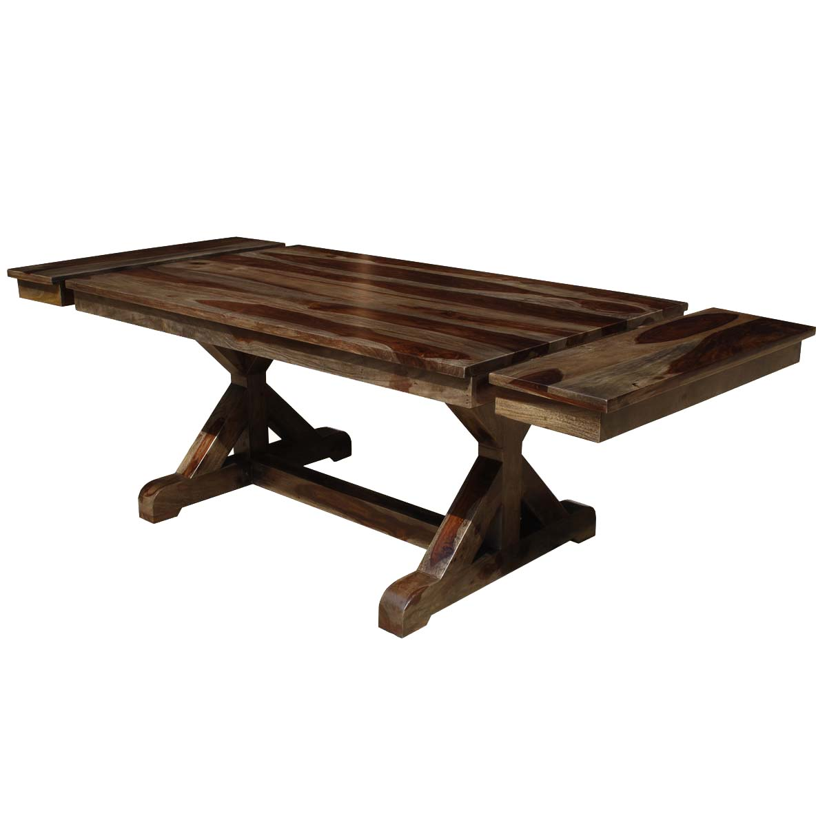 rustic wood dining table base photo - 5