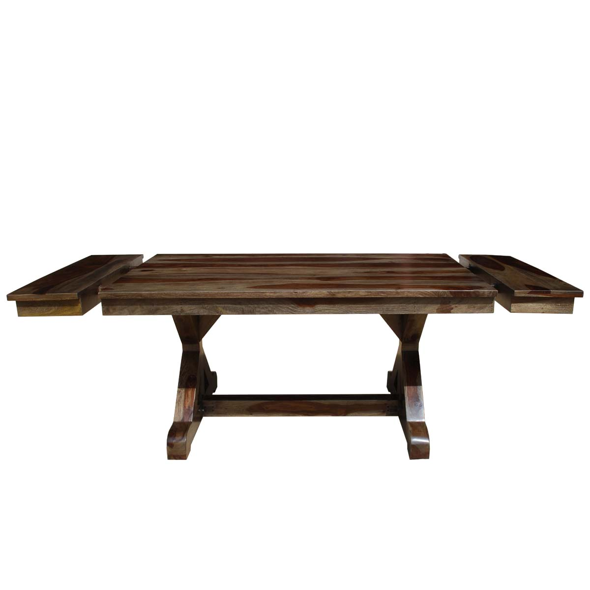 rustic wood dining table base photo - 7