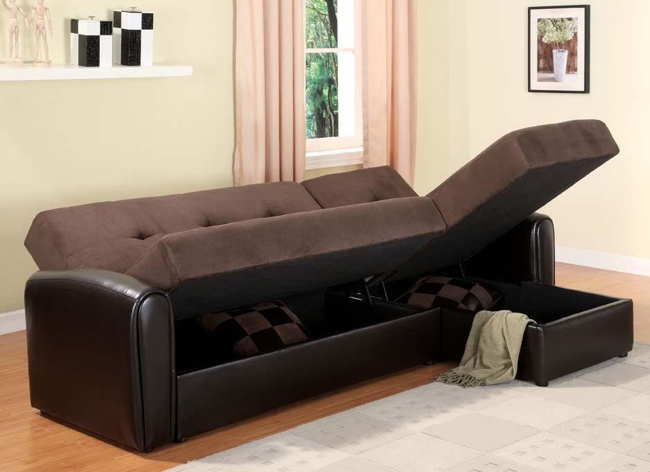 sectional sleeper sofa with storage hawk haven. Black Bedroom Furniture Sets. Home Design Ideas