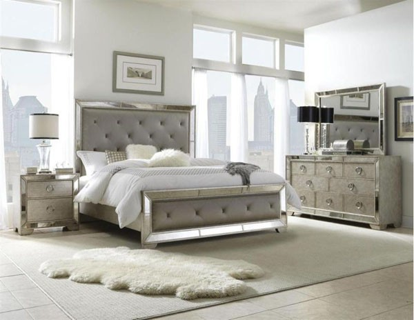 silver bedroom furniture sets photo - 4