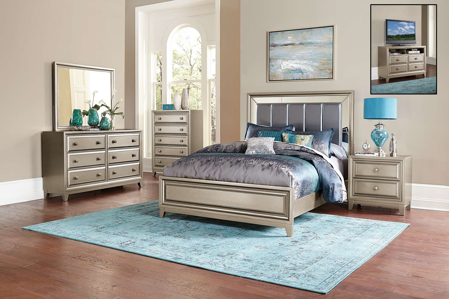 silver bedroom furniture sets photo - 8