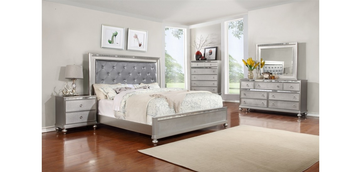 silver bedroom furniture sets photo - 9