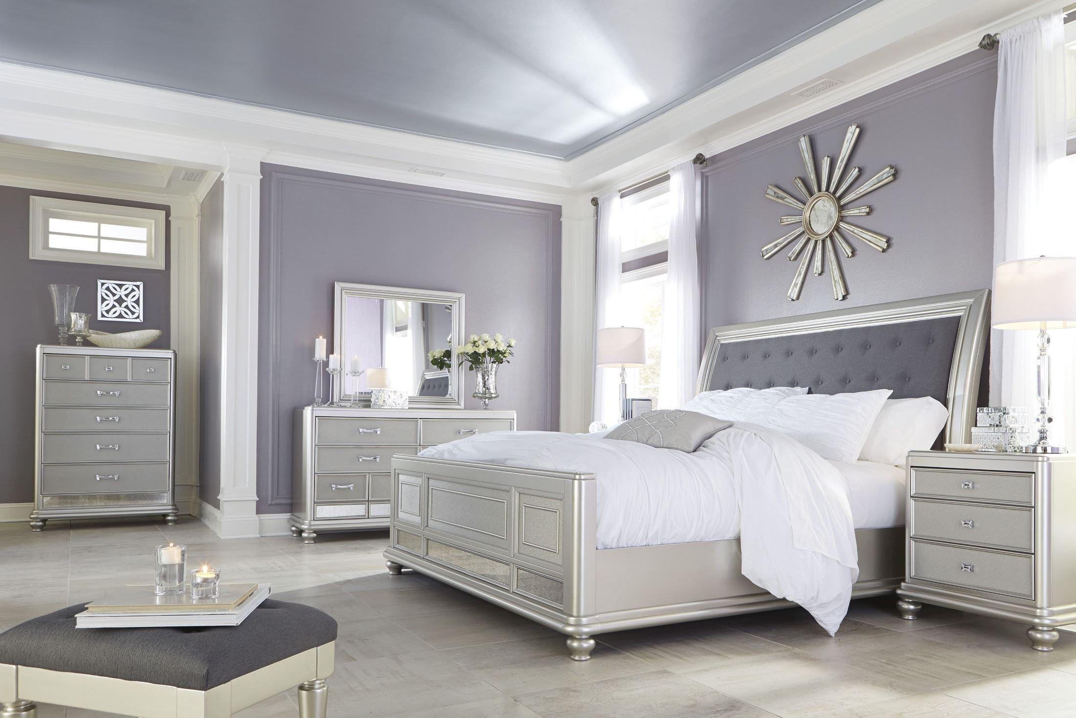 silver bedroom sets photo - 10