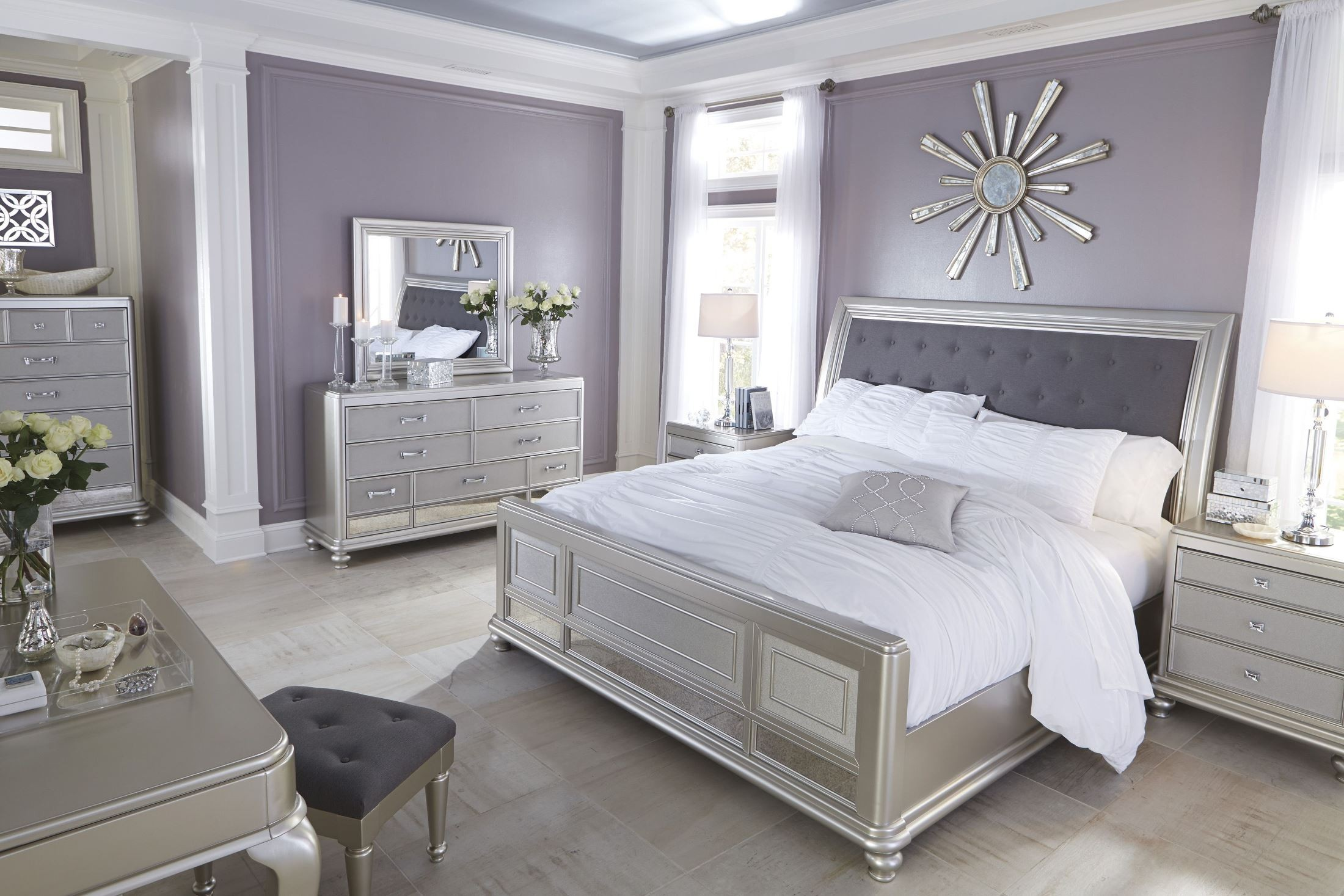 silver bedroom sets photo - 8