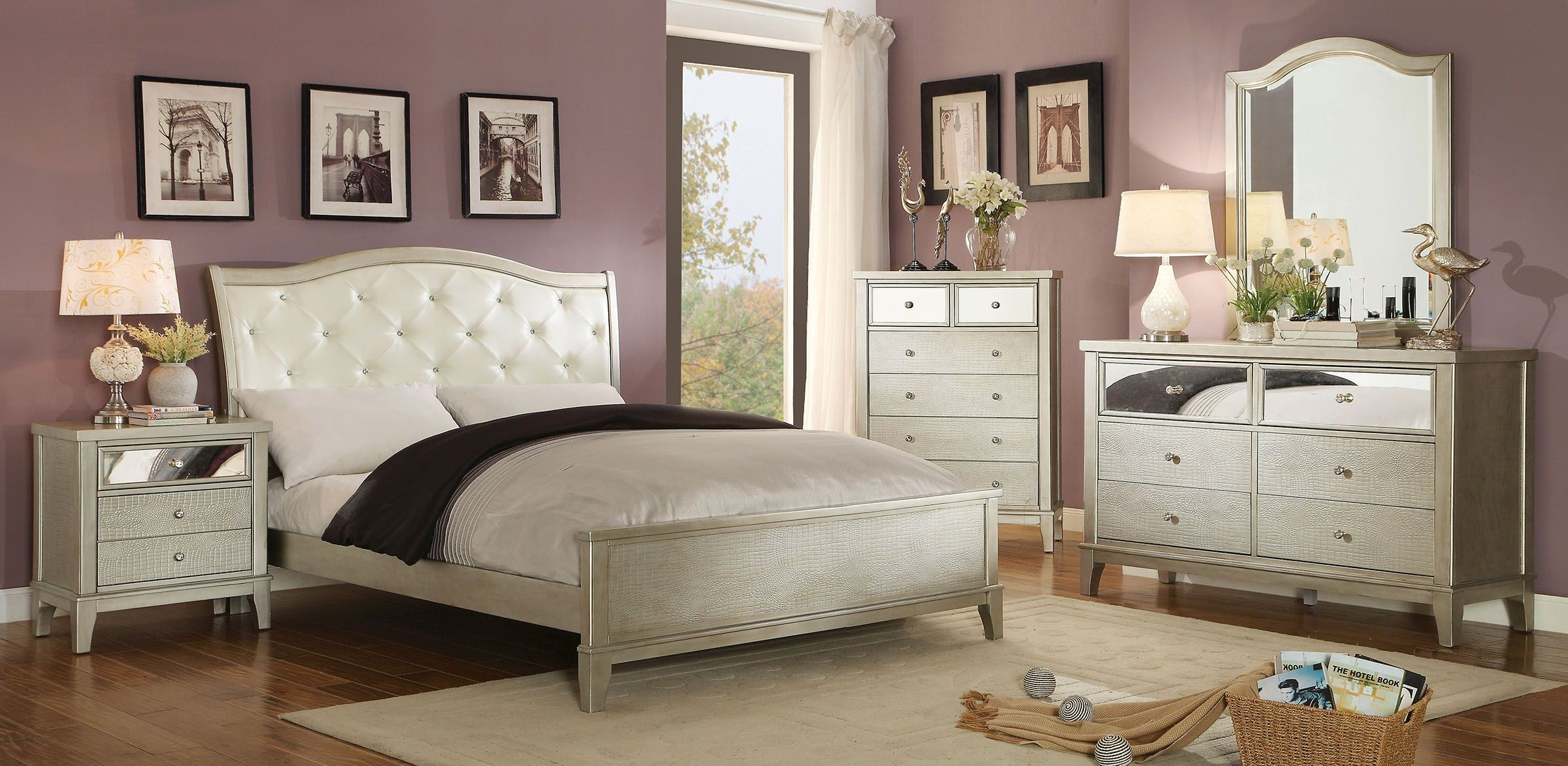 silver bedroom sets photo - 9