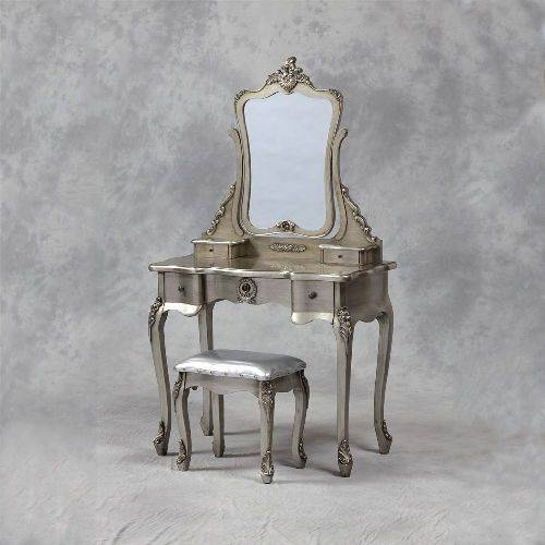 silver bedroom vanity sets photo - 1