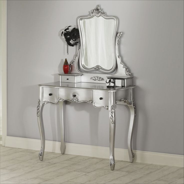 silver bedroom vanity sets photo - 7