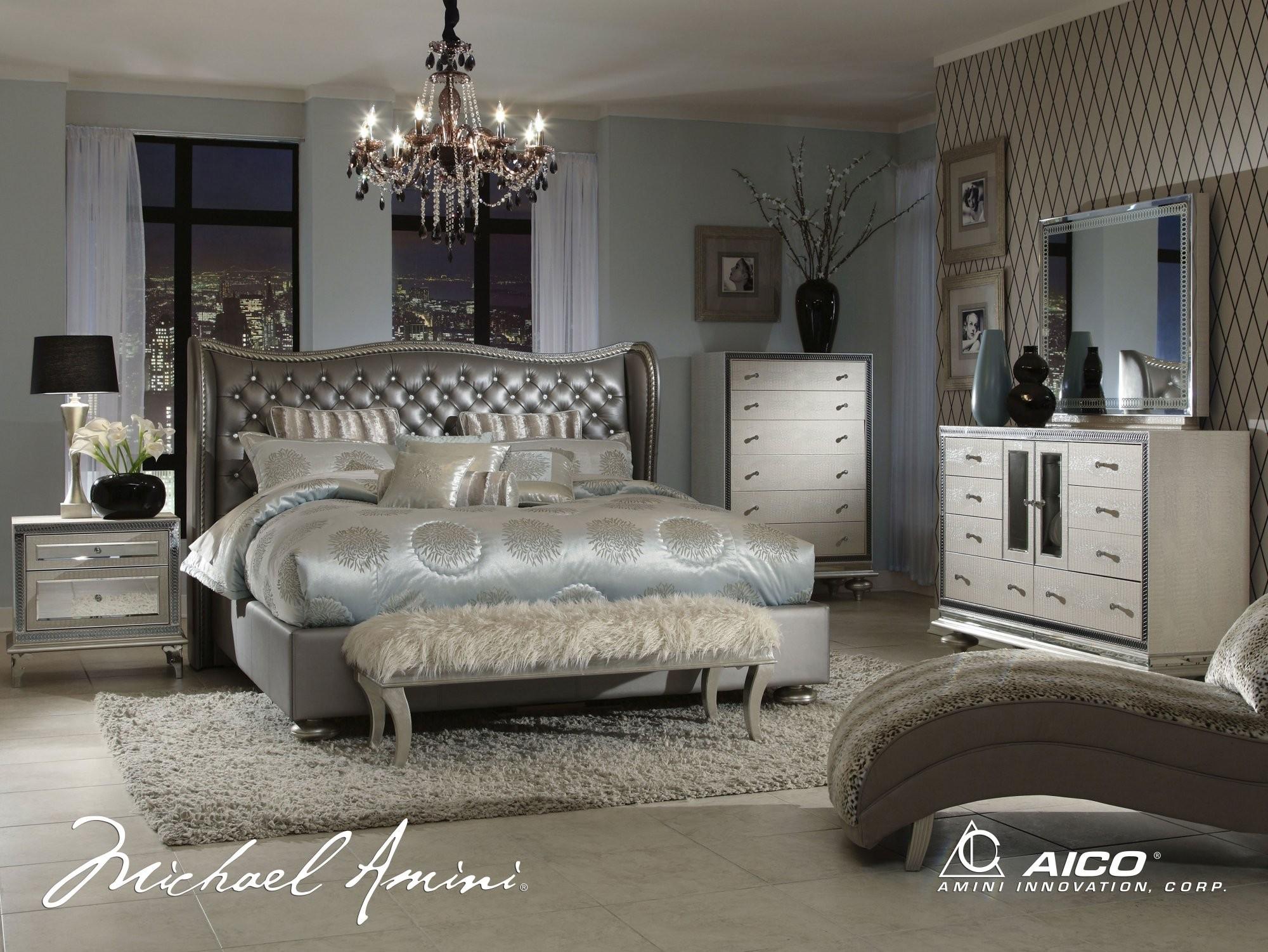 silver snow bedroom set photo - 9
