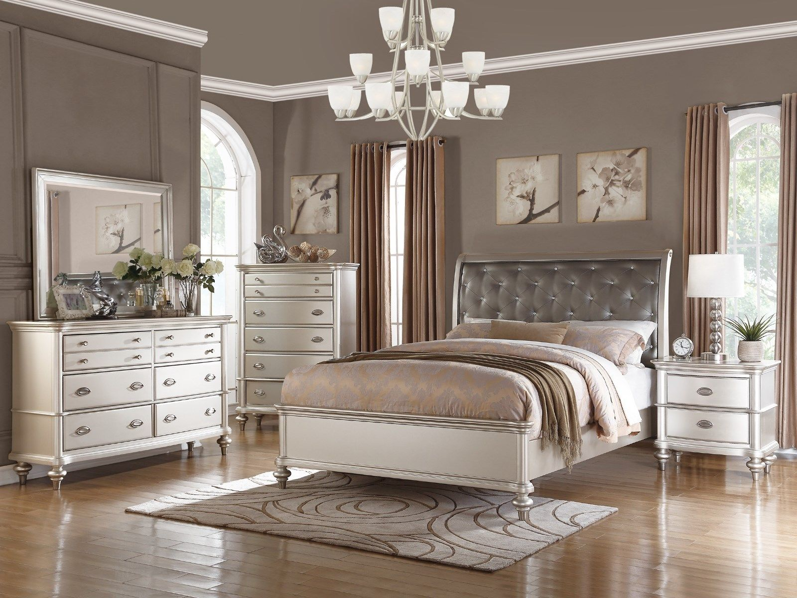 silver wood bedroom sets photo - 1