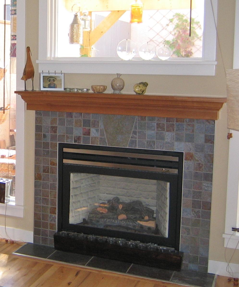 slate tile for a fireplace photo - 3