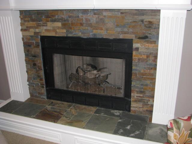 slate tile for a fireplace photo - 6