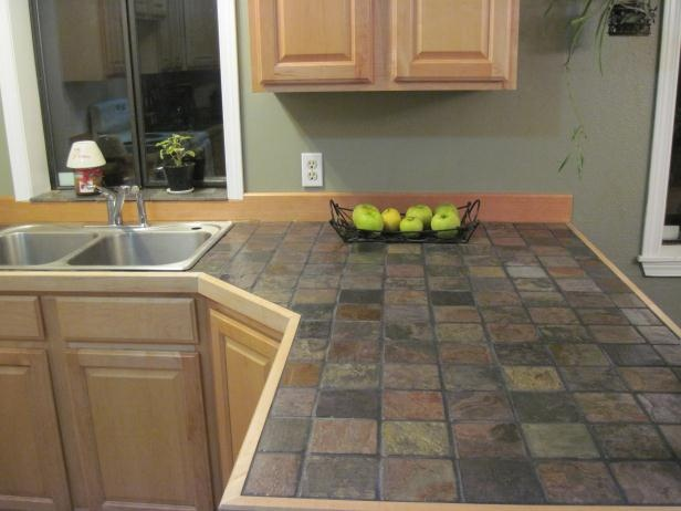 slate tile for kitchen countertops photo - 1