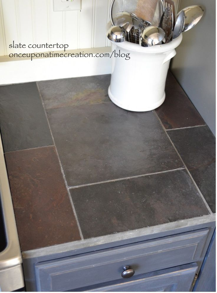 slate tile for kitchen countertops photo - 3