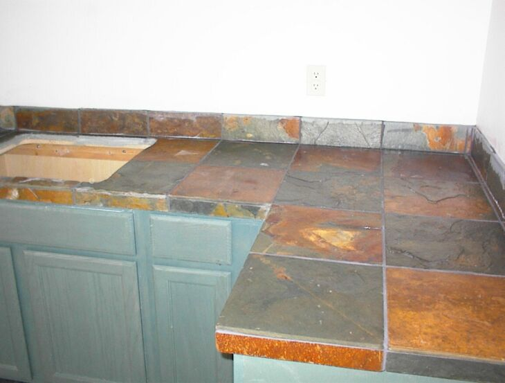slate tile for kitchen countertops photo - 6