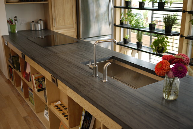 slate tile for kitchen countertops photo - 7