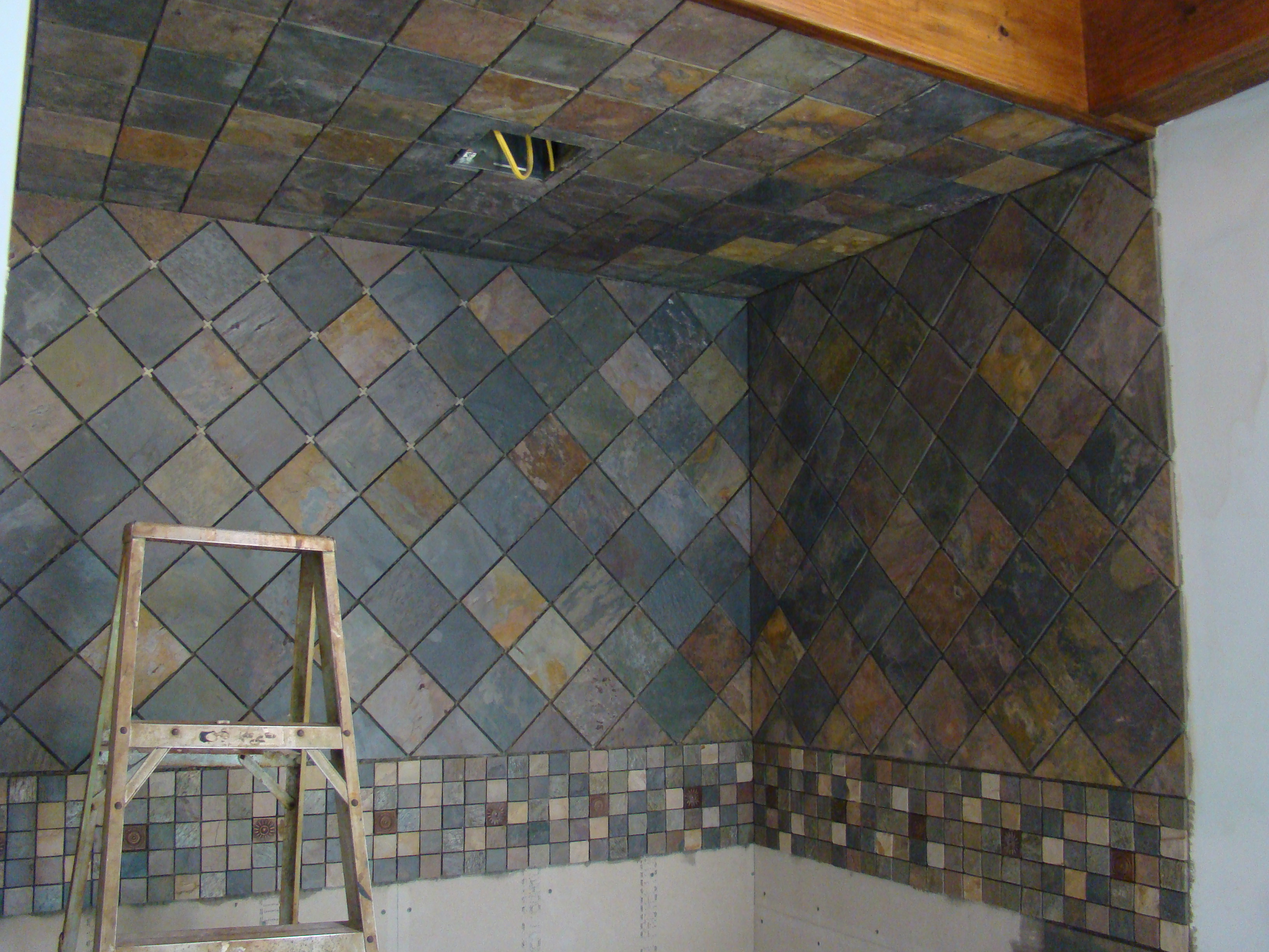 slate tile for shower walls photo - 1