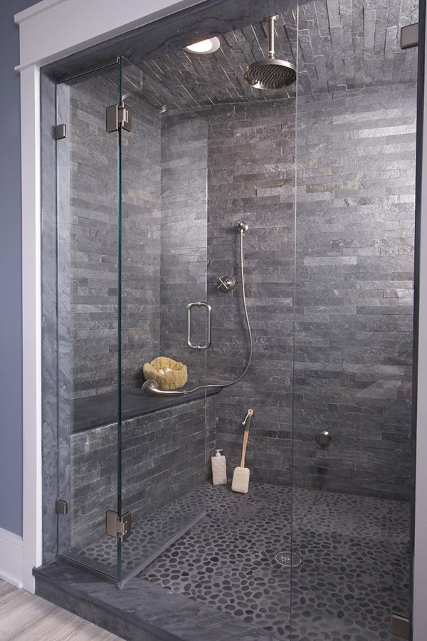slate tile for shower walls photo - 10