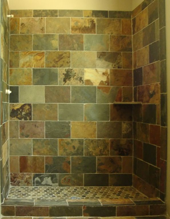 slate tile for shower walls photo - 2