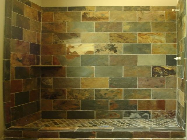slate tile for shower walls photo - 3