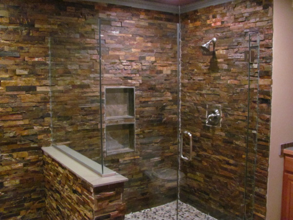 slate tile for shower walls photo - 4