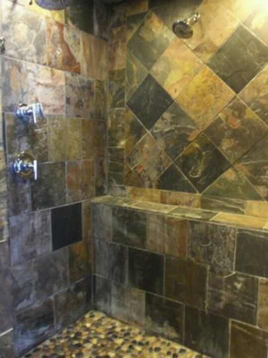 slate tile for shower walls photo - 7