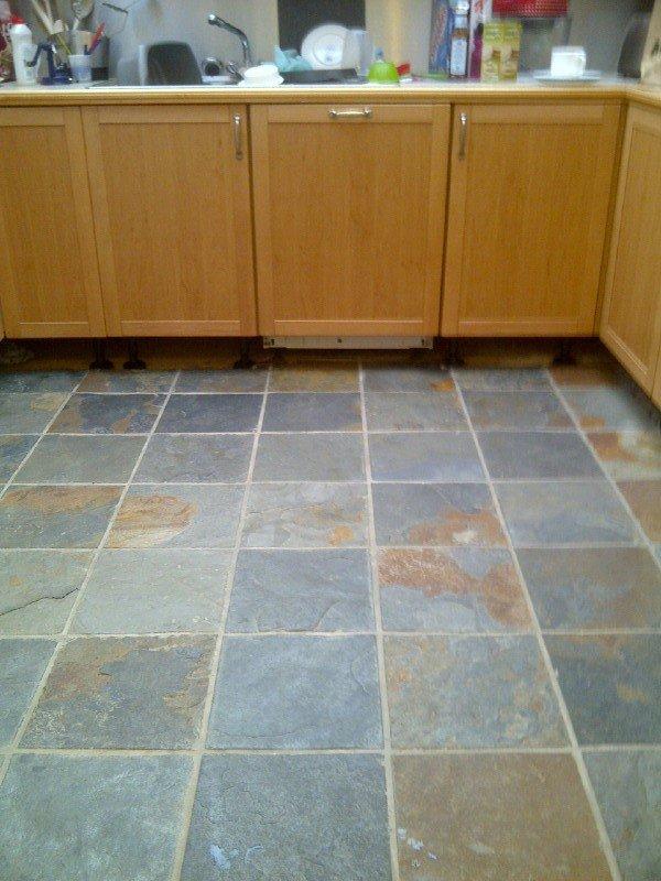 slate tile good for kitchen photo - 1