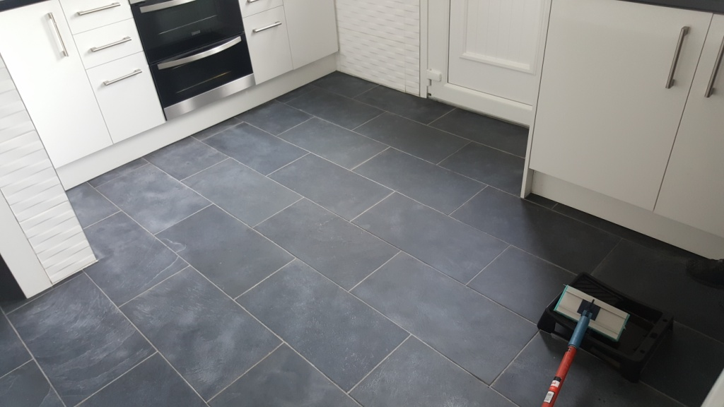 slate tile good for kitchen photo - 4