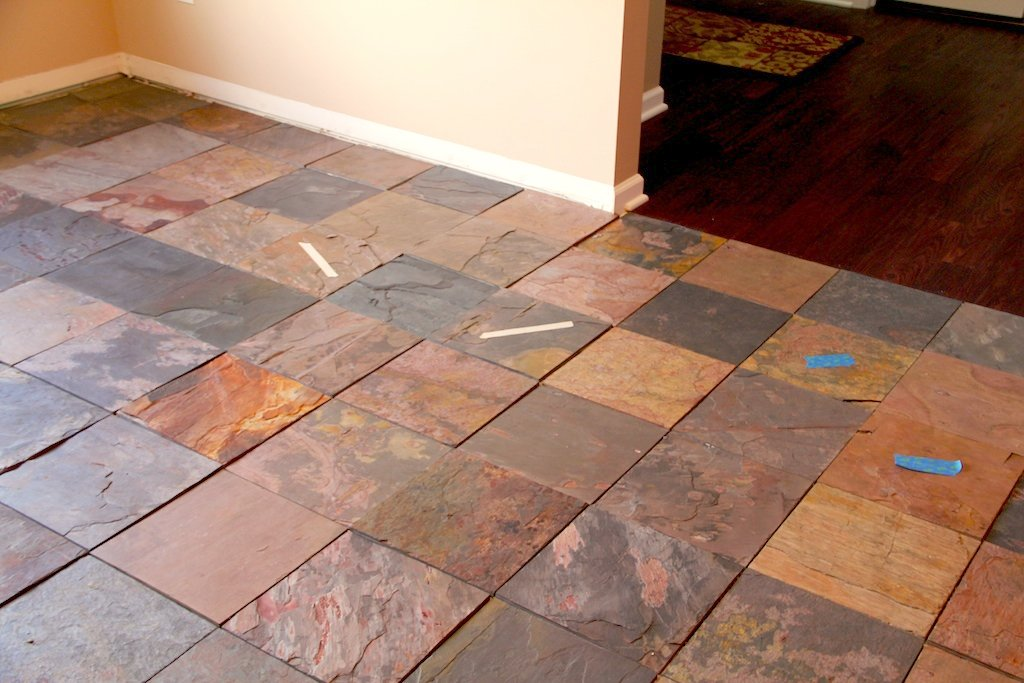 slate tile good for kitchen photo - 5