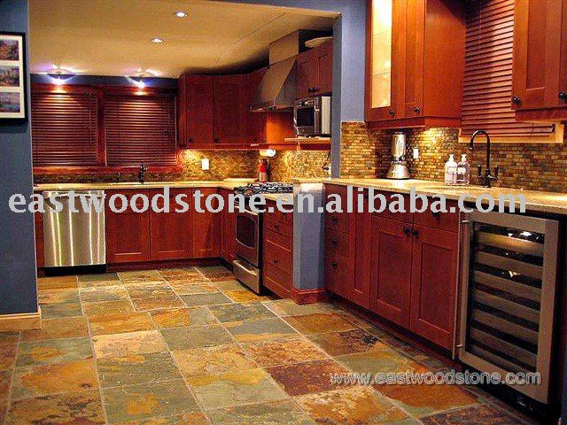 slate tile good for kitchen photo - 6