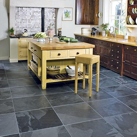slate tile good for kitchen photo - 9