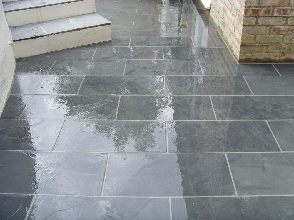 Slate Tiles For A Patio Hawk Haven