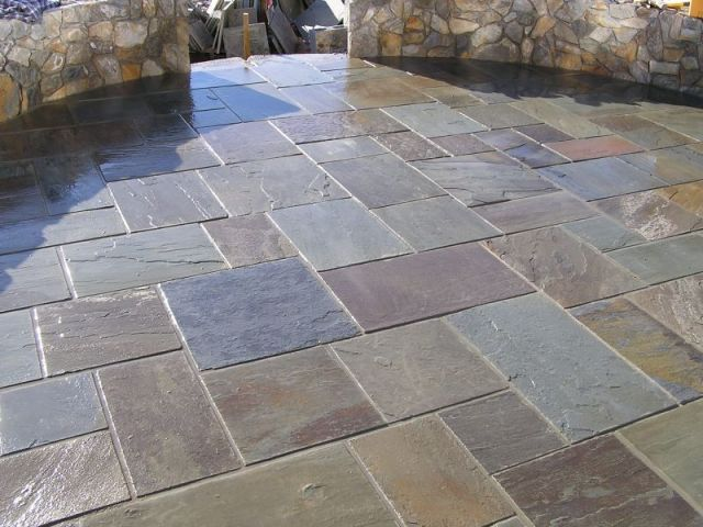 slate tiles for a patio photo - 2