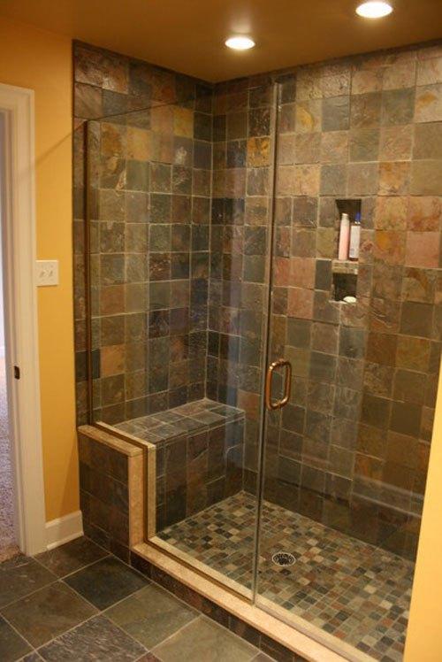slate tiles for bathroom shower photo - 10
