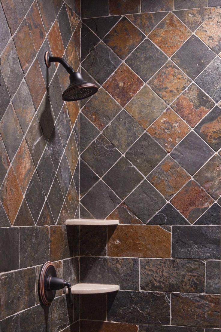 slate tiles for bathroom shower photo - 3