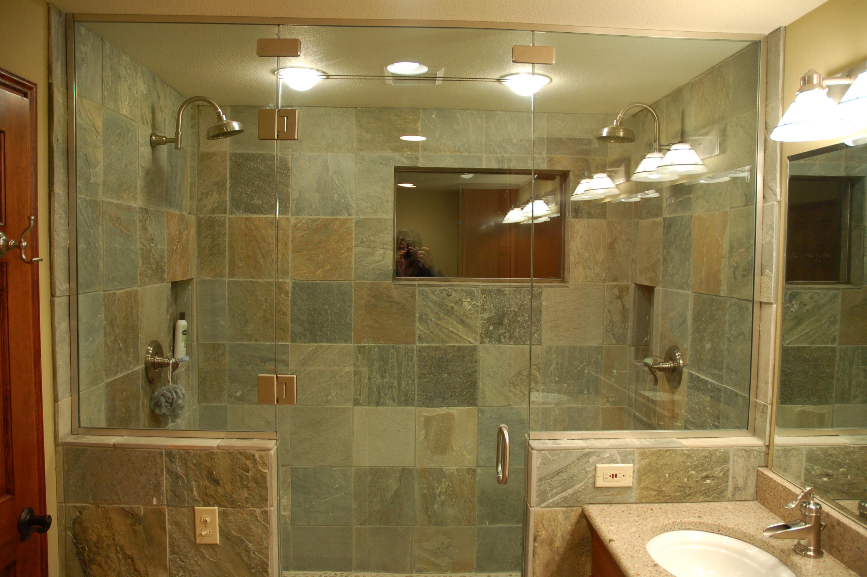 slate tiles for bathroom shower photo - 5