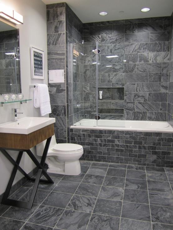 slate tiles for bathroom shower photo - 6